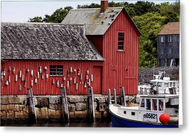 Iconic Fishing Shed  Greeting Card by Carol Bilodeau