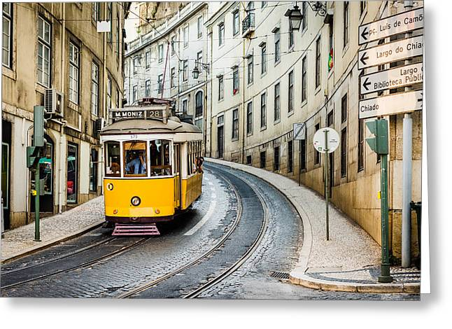 Iconic Lisbon Streetcar No. 28 IIi Greeting Card