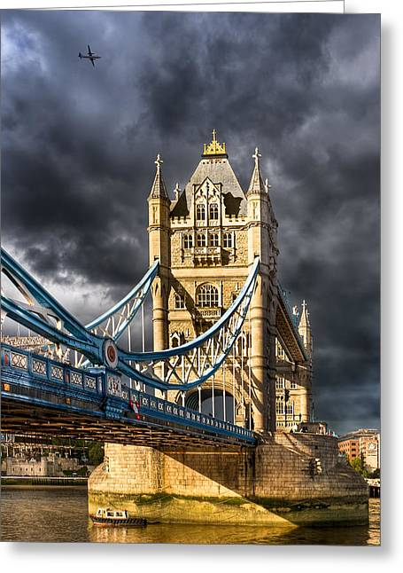Iconic London - Tower Bridge Greeting Card by Mark E Tisdale
