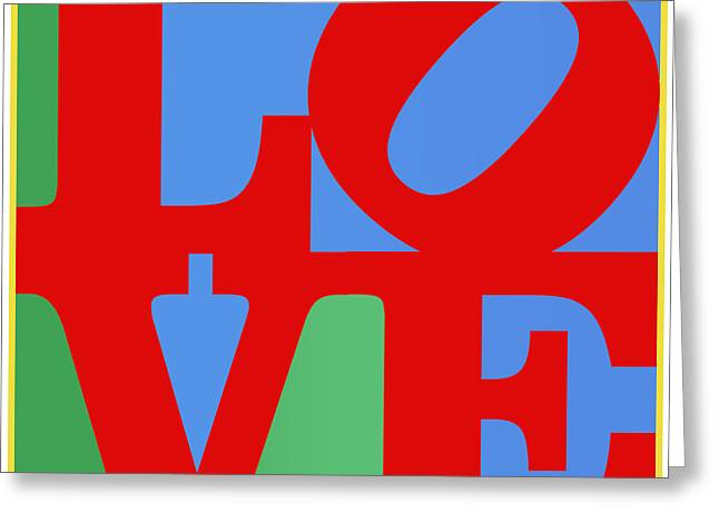 Iconic Love Greeting Card by Paulette B Wright
