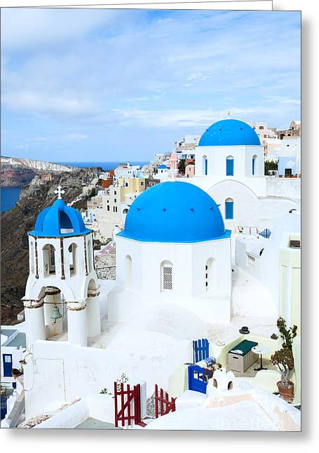 Iconic Oia - Santorini - Greece Greeting Card by Matteo Colombo