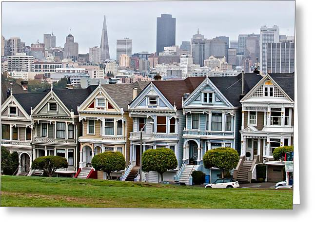 Iconic Painted Ladies Greeting Card