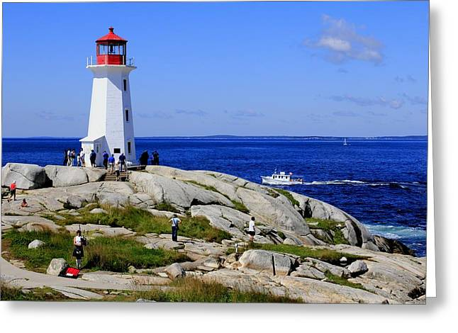 Iconic Peggy's Cove Lighthouse Nova Scotia Canada Greeting Card