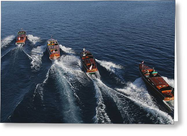 Iconic Wooden Runabouts Greeting Card by Steven Lapkin
