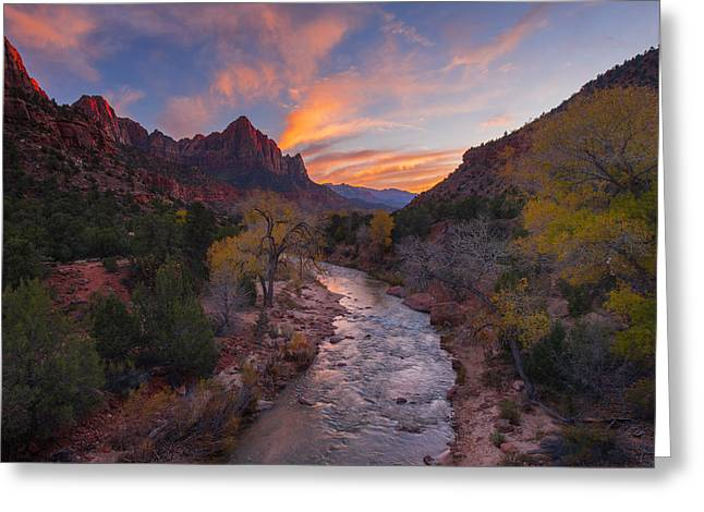 Iconic Zion Greeting Card by Joseph Rossbach