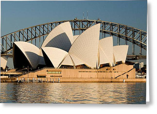 Icons One And Two - Sydney Australia. Greeting Card by Geoff Childs