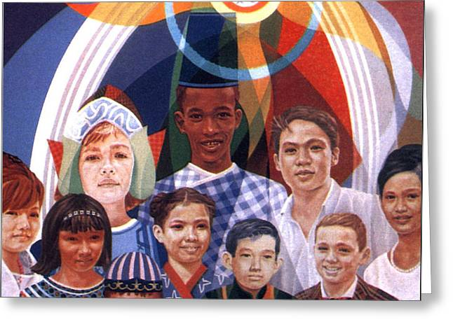 Icxc - Peace 1967 Greeting Card by Glenn Bautista
