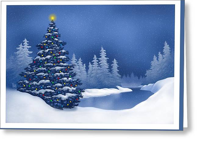 Icy Blue Greeting Card by Scott Ross