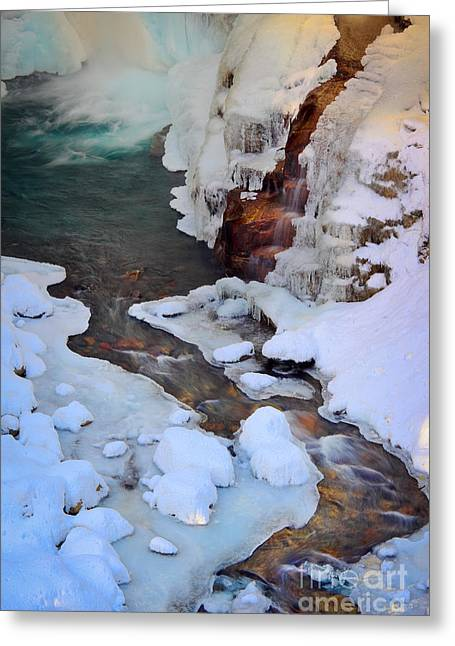 Icy Christine Falls  Greeting Card by Inge Johnsson