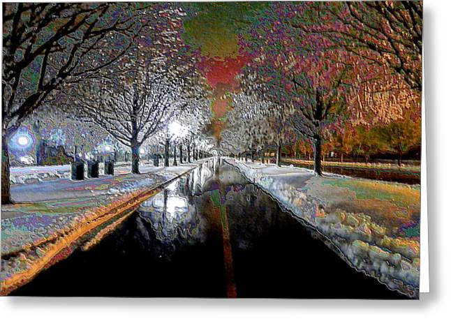 Icy Entrance To Keeneland Greeting Card by Christopher Hignite