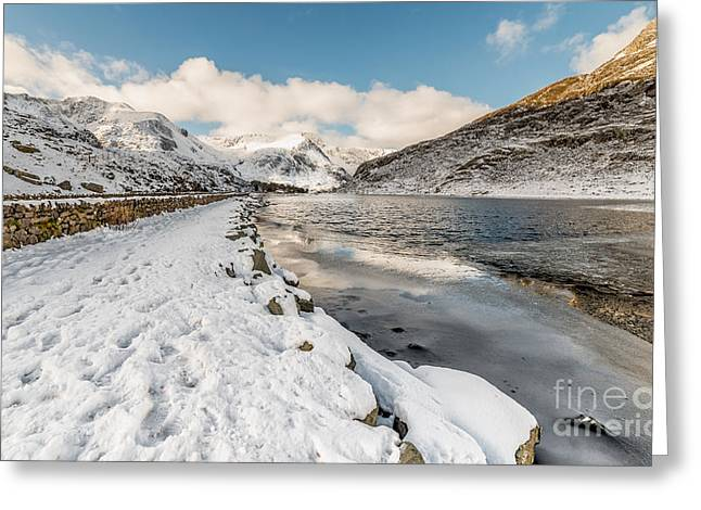 Icy Lake Greeting Card by Adrian Evans