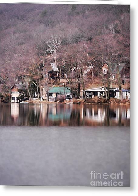 Icy Lakeside Greeting Card
