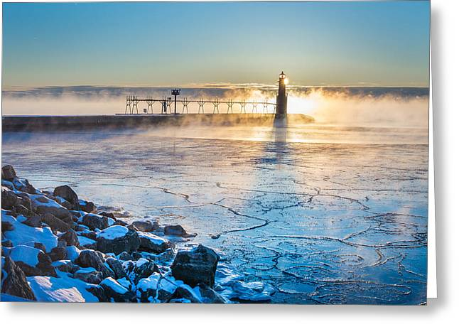 Icy Morning Mist Greeting Card