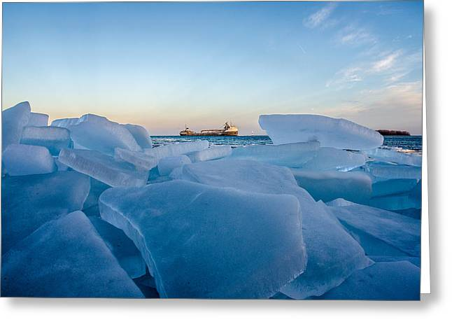 Icy Passage Greeting Card
