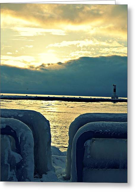 Icy Path Greeting Card by Dawdy Imagery