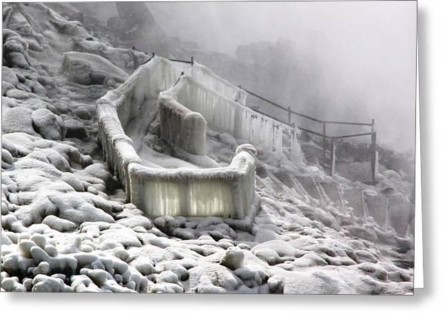 Icy Path Way Greeting Card by Ramabhadran Thirupattur