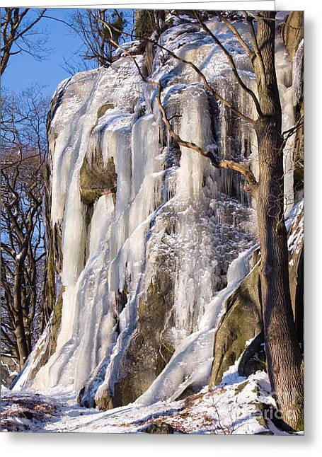Icy Rocks Greeting Card by Lutz Baar