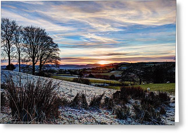 Icy Sunset Greeting Card by Beverly Cash
