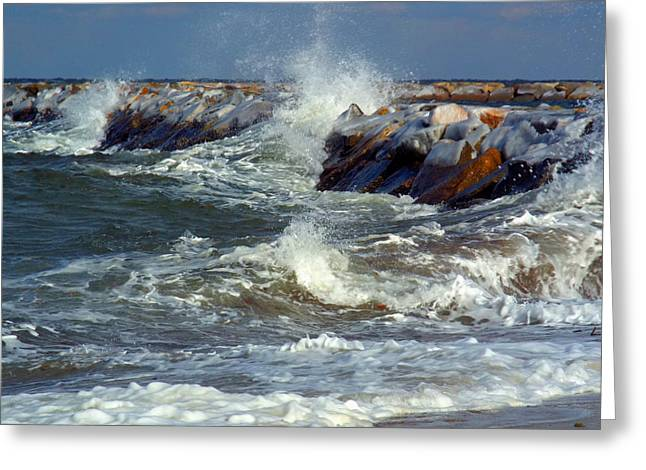 Icy Temperatures In Northeast Greeting Card by Dianne Cowen
