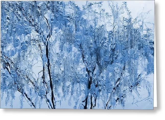 Icy Winter Greeting Card by Kume Bryant