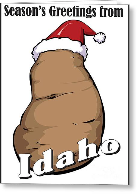 Idaho Christmas Greeting Card