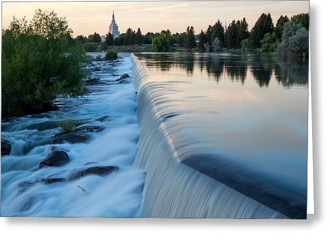 Idaho Falls Sunset Greeting Card