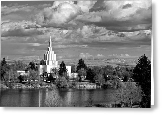 Idaho Falls Temple Greeting Card by Eric Tressler