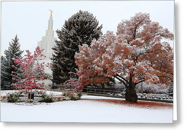 Idaho Falls Temple Winter Greeting Card