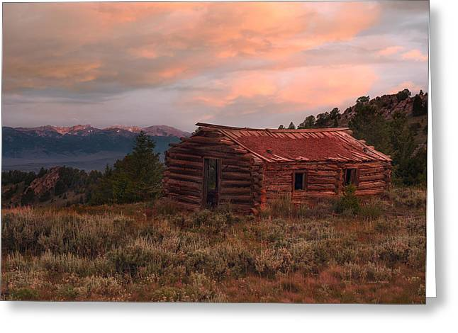 Idaho Pioneer Historical Cabin Greeting Card by Leland D Howard
