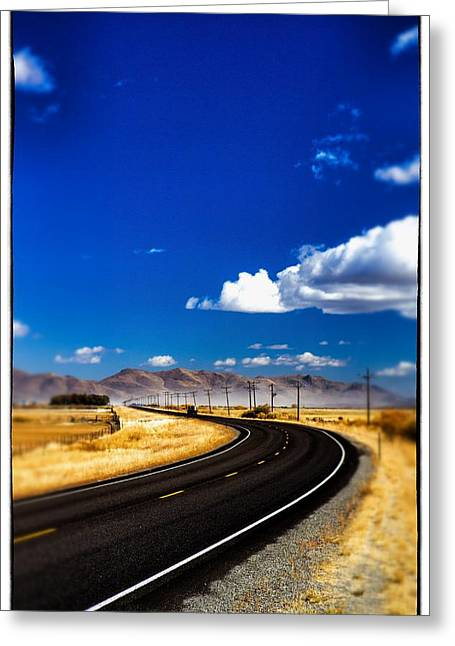 Idaho Road Titl Shift Greeting Card by For Ninety One Days