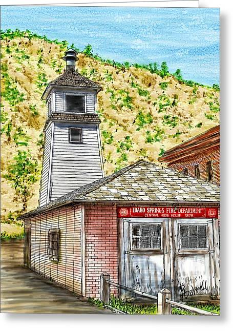 Idaho Springs Firehouse Greeting Card