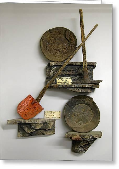 Idaho Territory Gold Miner's Tools Greeting Card