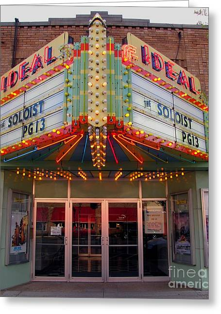 Ideal Theater In Clare Michigan Greeting Card