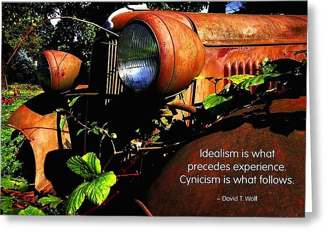 Idealism Greeting Card by Mike Flynn