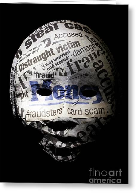 Identity Fraud Concept Greeting Card by Simon Bratt Photography LRPS