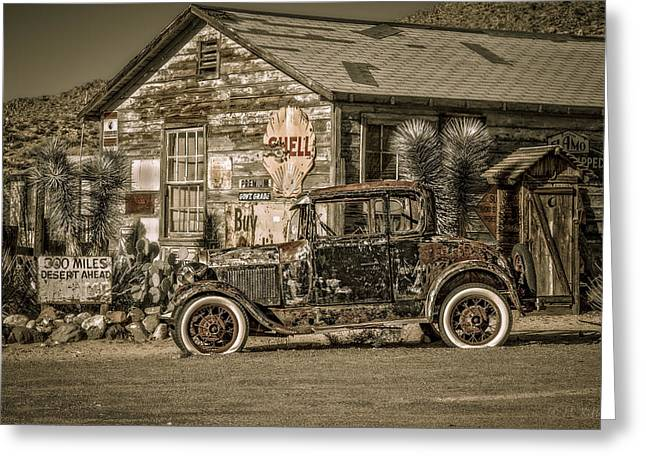 Idle On Route 66 Greeting Card