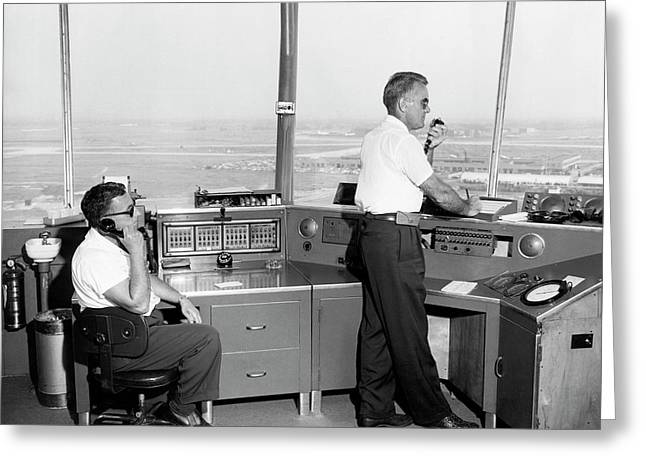 Idlewild Airport Control Tower Greeting Card