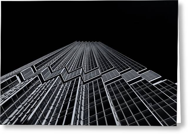 Ids Tower Minneapolis  Mono Greeting Card