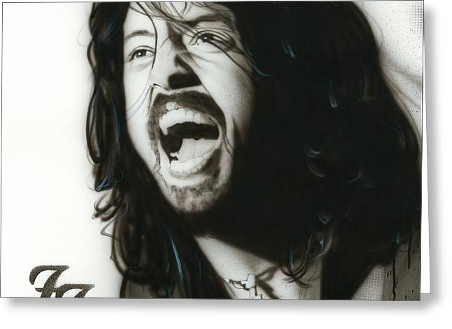 Dave Grohl - ' If Everything Could Ever Feel This Real Forever ' Greeting Card by Christian Chapman Art