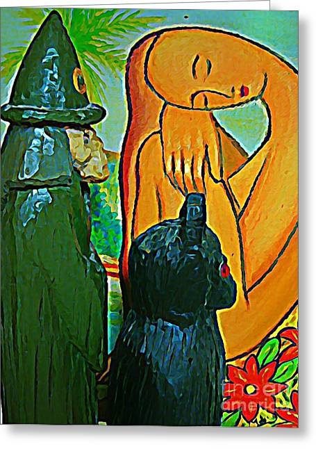 If I Can Not See You You Can Not See Me Greeting Card