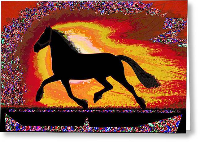 If Mind Is A Horse You Need Your Heart And Soul To Control It For The Right Pace And Direction  Succ Greeting Card