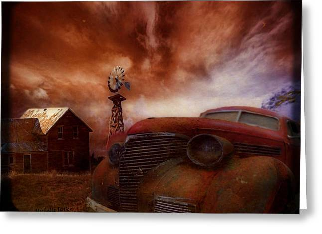 If Rust Could Talk Greeting Card by Wishes and Whims Originals By Michelle Jensen