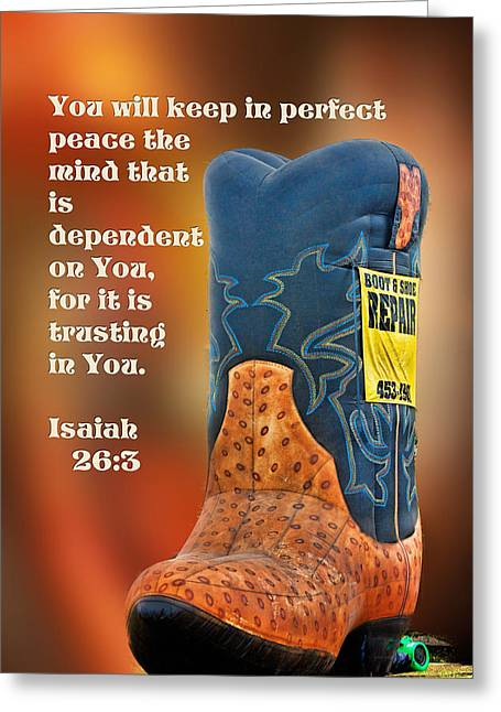 If The Shoe Fits Wear It Greeting Card by Linda Phelps
