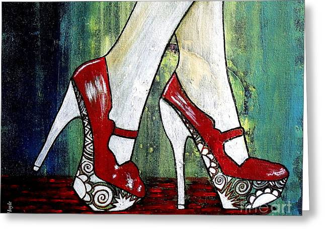 If You Walked In My Shoes Greeting Card by Julie  Hoyle