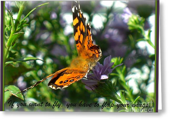 Greeting Card featuring the photograph If You Want To Fly by Heidi Manly