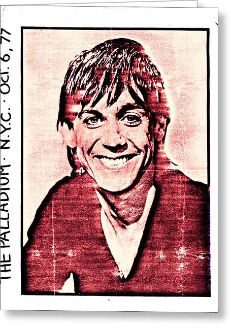 Iggy Pop At The Palladium Nyc Greeting Card