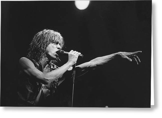 Iggy Pop Live At The Fillmore Greeting Card