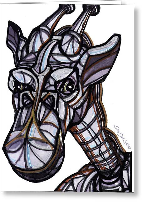 iGiraffe Greeting Card by Del Gaizo