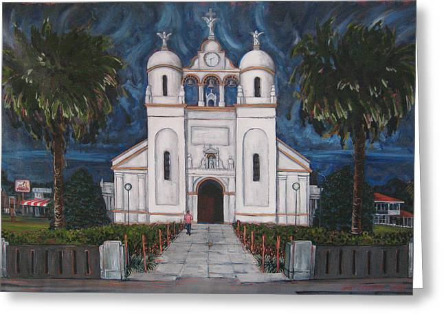 Iglesia Curridabat  Costa Rica Greeting Card