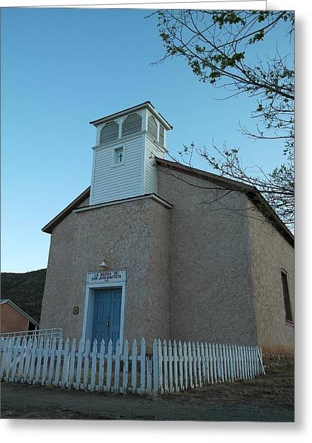 Iglesia De Jaun Batista Lincoln City New Mexico Greeting Card by Jeff Swan